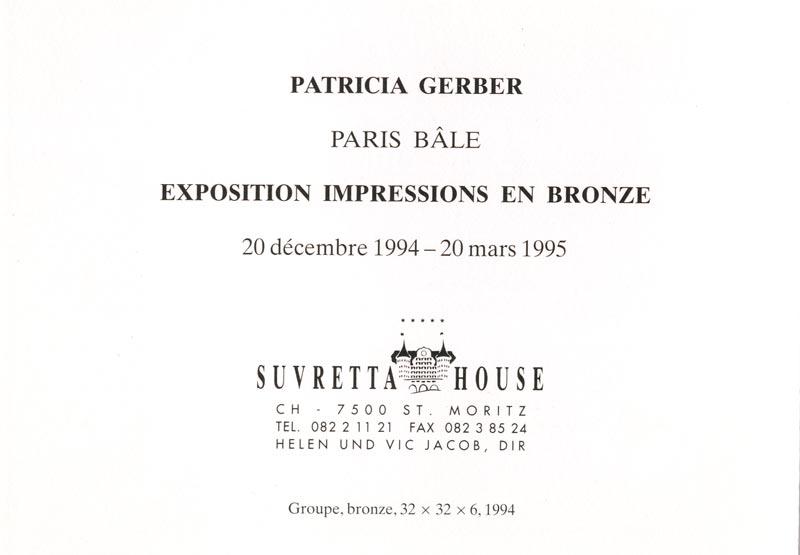 Sie sehen Bilder aus dem Artikel: Ausstellung 1995 - Patricia Gerber 'Impressionen in Bronze'