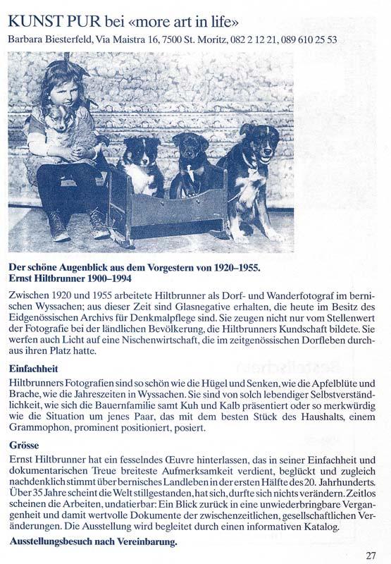 Sie sehen Bilder aus dem Artikel: Ausstellung 1995 - Ernst Hiltbrunner