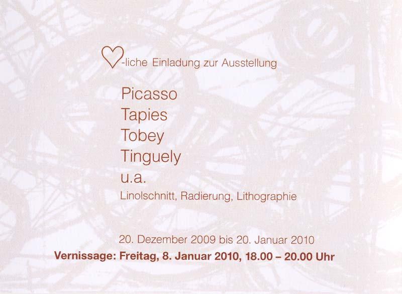 Sie sehen Bilder aus dem Artikel: Ausstellung 2009 - Picasso, Tapies, Tobey, Tinguely u.a.