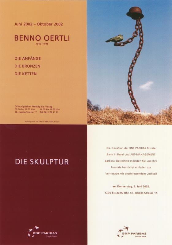 Sie sehen Bilder aus dem Artikel: Ausstellung 2002 - Benno Oertli 'Die Skulptur'
